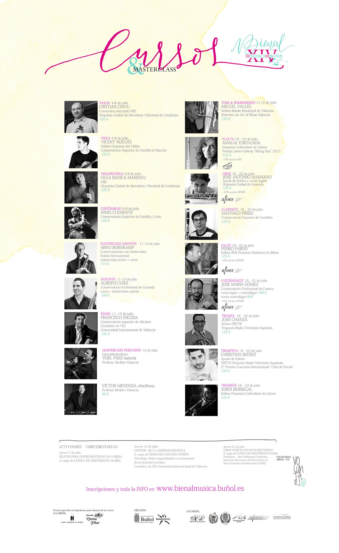 Cartel Cursos XIV Bienal de Música de Buñol