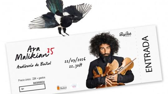 ¡Ya están a la venta las entradas para el concierto de Ara Malikian del viernes 22 de julio!