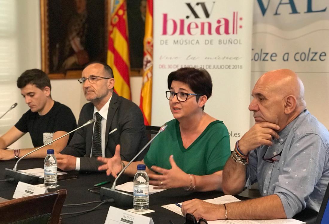 Presentación de la XV Bienal de Música de Buñol en la Diputación de Valencia